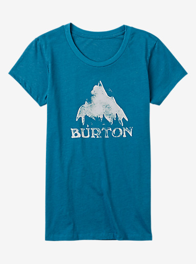 Burton Stamped Mountain Short Sleeve T Shirt shown in Hydro Heather