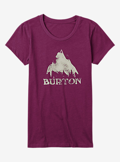 Burton Stamped Mountain Short Sleeve T Shirt shown in Sangria Heather