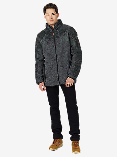 Burton Pierce Fleece shown in Beetle Derby Camo