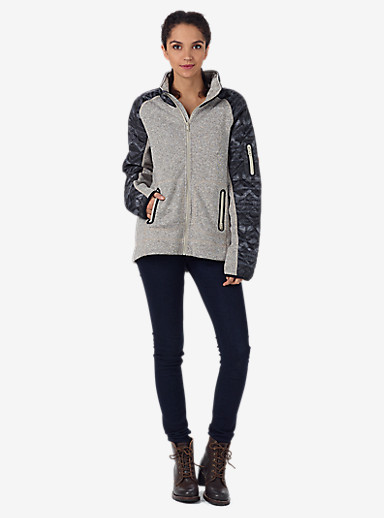 Burton Women's Pierce Fleece shown in Dove Heather