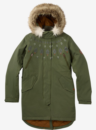 Burton Barge Jacket shown in Olive Night