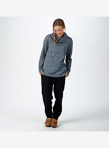 Burton Ellmore Pullover shown in Eclipse Heather Hatch Stripe