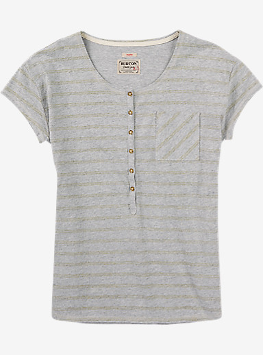 Burton Salvador Short Sleeve Tee shown in Dove Heather Hatch Stripe