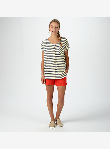 Burton Salvador Short Sleeve Tee shown in Canvas Heather Norwich Stripe