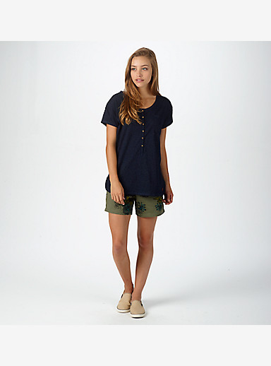 Burton Salvador Short Sleeve Tee shown in Indigo Dobby