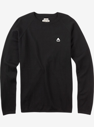 Burton Stowe Raglan Sweater shown in True Black