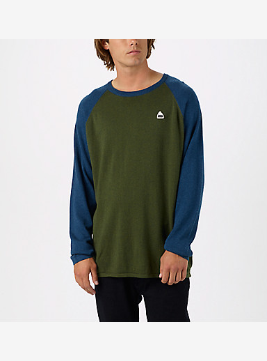 Burton Stowe Raglan Sweater shown in Olive Night Heather