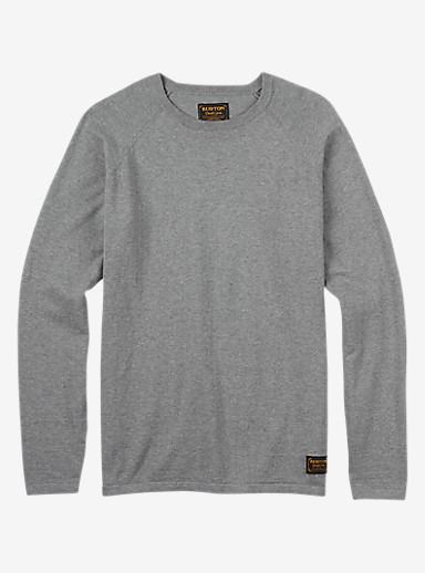 Burton Stowe Raglan Sweater shown in Monument Heather