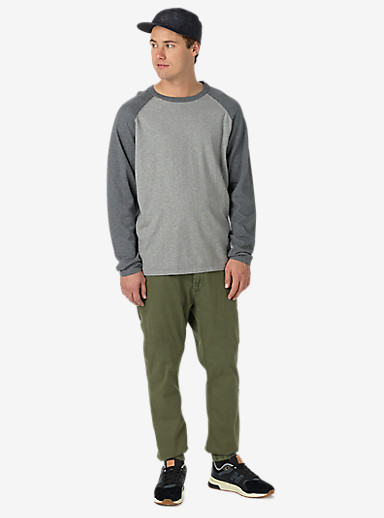 Burton Stowe Raglan Sweater shown in Dark Ash Heather / Monument Heather