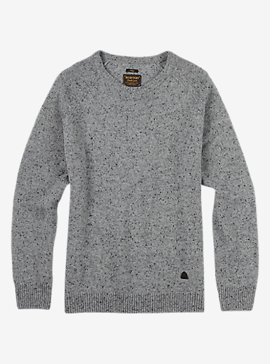 Burton Gus Sweater shown in Dark Ash Heather