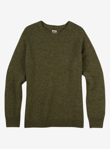 Burton Gus Sweater shown in Olive Night Heather