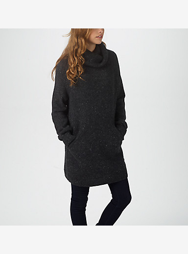Burton Avalanche Sweater shown in True Black Heather