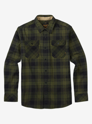 Burton Brighton Flannel shown in Olive Night Shadowbox