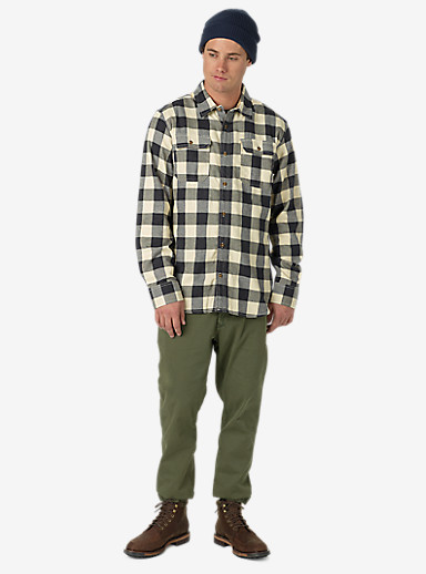 Burton Brighton Flannel shown in Vanilla Heather Buffalo