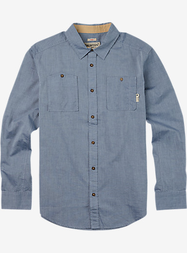 Burton Glade Long Sleeve Shirt shown in Light Chambray