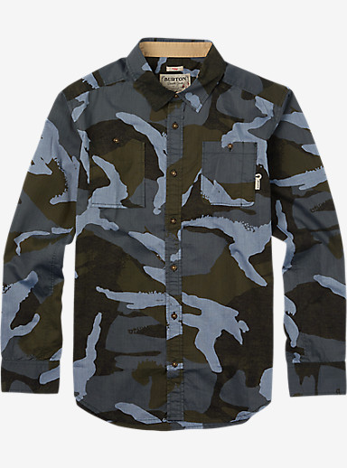Burton Glade Long Sleeve Shirt shown in Beetle Derby Camo Chambray