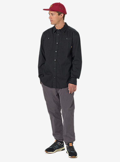 Burton Glade Long Sleeve Shirt shown in True Black