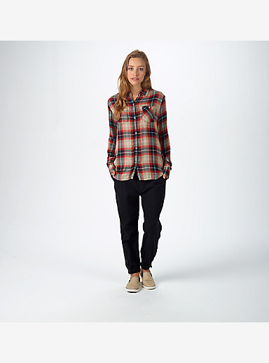 Burton Grace Long Sleeve Woven shown in White Pepper Sunset Plaid