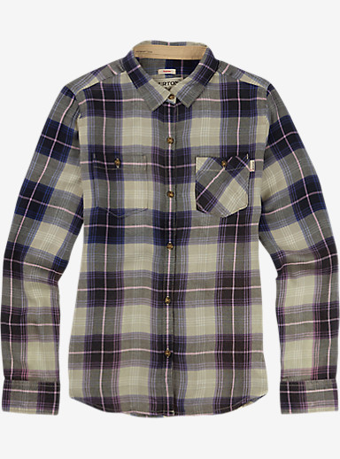Burton Grace Long Sleeve Woven shown in Eclipse Sunset Plaid