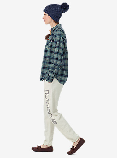 Burton Grace Long Sleeve Woven shown in Eclipse Haze Plaid