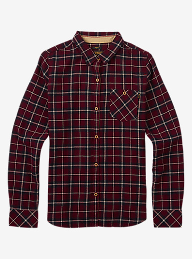 Burton Grace Long Sleeve Woven shown in Sangria Haze Plaid