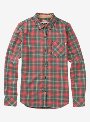 Burton Grace Long Sleeve Woven shown in Sashimi Haze Plaid