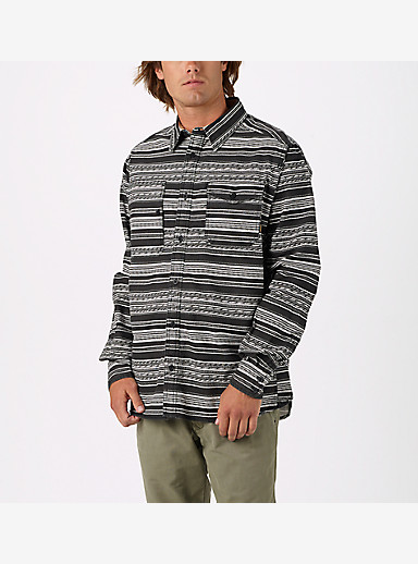 Burton Mill Long Sleeve Woven Shirt shown in True Black Yarny