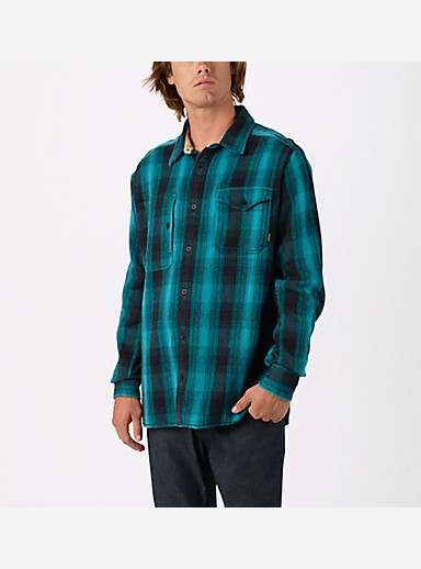 Burton Mill Long Sleeve Woven Shirt shown in Parasailing Winthrop
