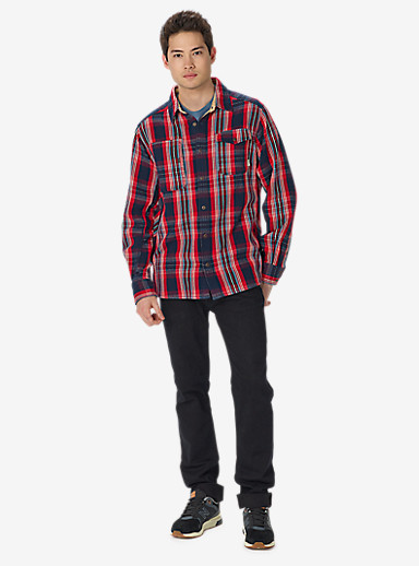 Burton Mill Long Sleeve Woven Shirt shown in Eclipse North End