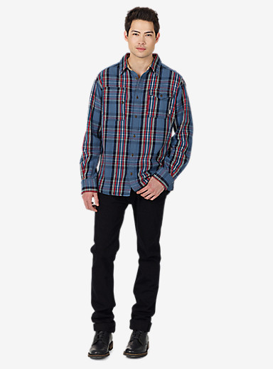 Burton Mill Long Sleeve Woven Shirt shown in Washed Blue North End