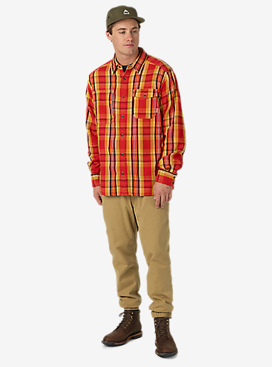Burton Mill Long Sleeve Woven Shirt shown in Gold Flame North End