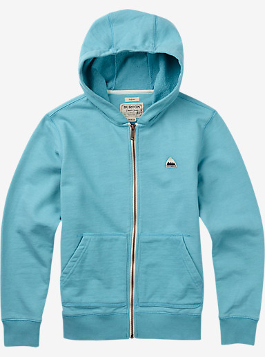 Burton Boys' Roe Full-Zip Hoodie shown in Aqua