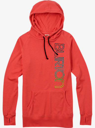Burton Custom Antidote Pullover shown in Hot Coral