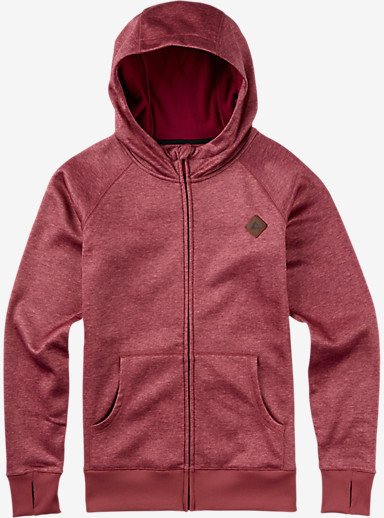 Burton Scoop Hoodie shown in Rosette Heather