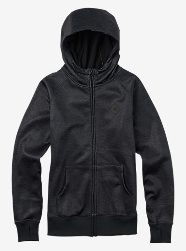 Burton Scoop Hoodie shown in True Black Heather
