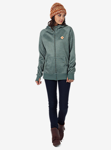 Burton Scoop Hoodie shown in Vetiver Heather