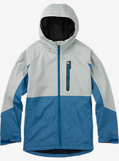 Burton Berkley Rain Jacket shown in High Rise Heather / Pacific Heather