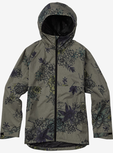 Burton Berkley Rain Jacket shown in Succulent Camo