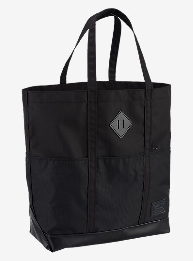 Burton Crate Tote - Large shown in True Black Heather Twill