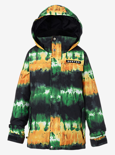 Burton Boys' Amped Jacket shown in Slime Surf Stripe