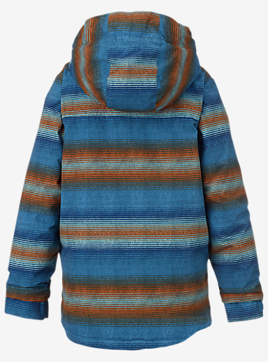 Burton Boys' Amped Jacket shown in Glacier Beach Stripe