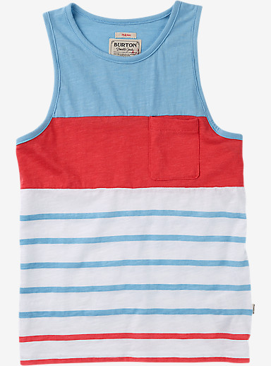 Burton Boys' Brandbury Tank shown in Dusk Blue Lplnd Stripe