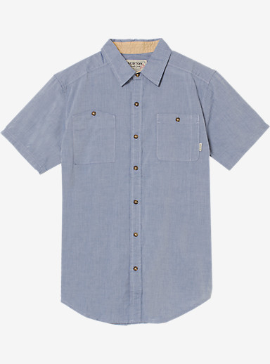 Burton Glade Short Sleeve Shirt shown in Light Chambray