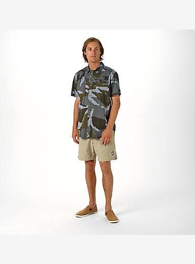 Burton Glade Short Sleeve Shirt shown in Beetle Derby Camo Chambray