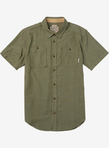Burton Glade Short Sleeve Shirt shown in Olive Night Chambray
