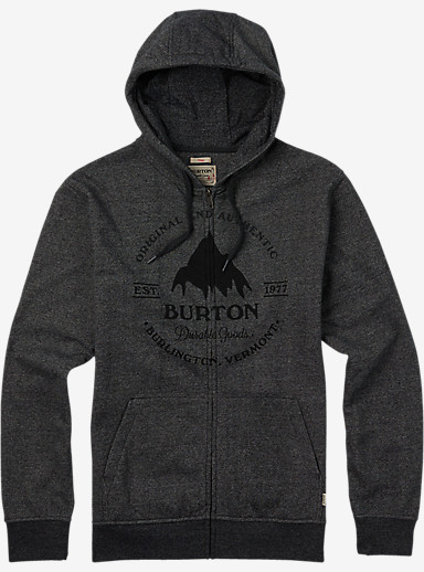 Burton Gristmill Full-Zip Hoodie shown in Salt and Pepper Heather