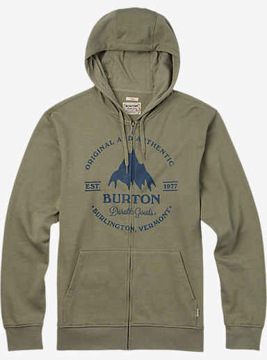 Burton Gristmill Full-Zip Hoodie shown in Light Olive Heather