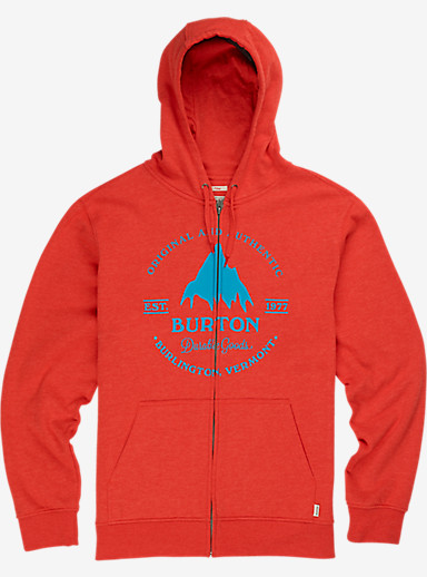 Burton Gristmill Full-Zip Hoodie shown in Fiery Red Heather