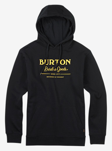 Burton Durable Goods Pullover Hoodie shown in True Black