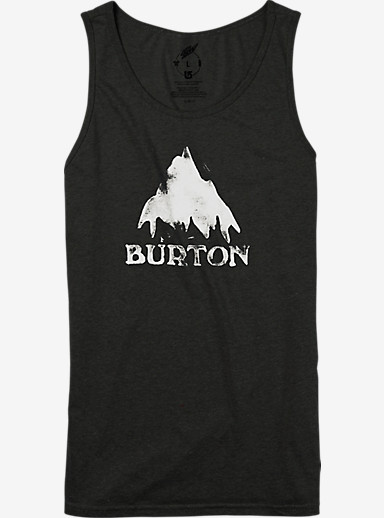 Burton Stamped Mountain Recycled Tank shown in True Black Heather